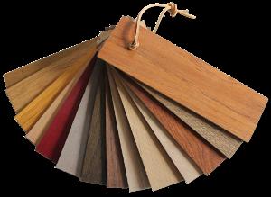 Waaier houtsoorten transparant klein schaduw